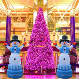 hot 360 rotatable christmas inflatable snowman decorations bar club home party inflatable snowman decoration props drop shipping