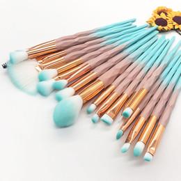 Blue green eyeshadow online shopping - 20Pcs Diamond Makeup Brushes Set Powder Foundation Blush Blending Eyeshadow Lip Cosmetic Beauty Make Up Brush Tool Kit