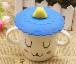 $enCountryForm.capitalKeyWord NZ - 1pc Lovely Anti-dust Silicone Cartoon Fruit Cup Cover Leakproof Coffee Lid Cap Airtight Sealed Cup Cover