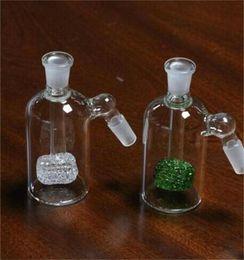 Discount bong percolator accessories - 14.4mm clear green Ash Catcher female male Glass Ashcatcher Cheap Percolator for Glass Bong Free Shipping smoking access