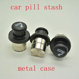 Lighter casing online shopping - Metal Secret Stash Smoking Car Cigarette Lighter Shaped Hidden Diversion Insert Hidden Pill Box Container Pill Case Storage Box