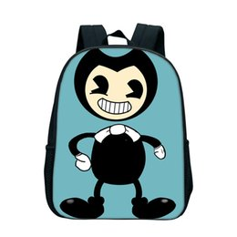 clear baby 2018 - 2018 Bendy and The Ink Machine Backpacks For Kids Boys School Bags Nylon Zipper Bookbags Kindergarten Baby Book Bags Gif