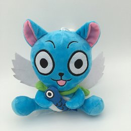 """$enCountryForm.capitalKeyWord NZ - High Quality 100% Cotton 7"""" 18cm Fairy Tail Happy Wish Fish Plush Toy For Child Holiday Gifts Wholesale"""
