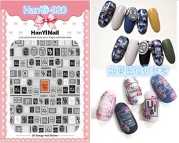 patterned nail tips Australia - 30 Styles! Letters Patterns! 1 Sheet Nails Art Manicure Back Glue Decal Decorations Design Nail Sticker For Nails Tips Beauty