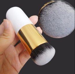 $enCountryForm.capitalKeyWord Australia - Chubby Pier Foundation Makeup Brush Pro BB CC Cream Liquid Power Cosmetic Beauty Essential Angle Flat Top Make Up Brush Tool 6 Colors
