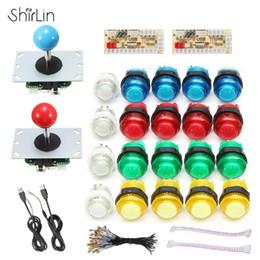 Usb cable parts online shopping - DIY Joystick Arcade Kits Players With LED Arcade Buttons Joysticks USB Encoder Kit Cables Game Parts Set