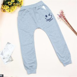 Hot Boys Pants Sports NZ - TANGUOANT Free Shipping Hot Sale Children cotton pants Boys Girls Casual Pants 2 Colors Kids Sports trousers Harem