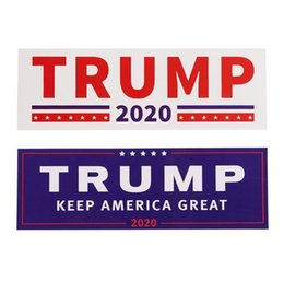 Wholesale Car Bumpers Australia - Donald Trump 2020 Car Stickers 7.6*22.9cm Bumper Sticker Keep Make America Great Decal for Car Styling Vehicle Paster 500Sets OOA5518