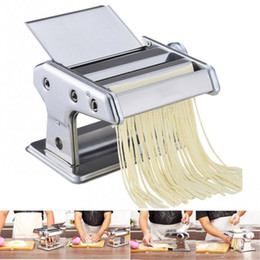 Spaghetti Cutter NZ - Stainless Steel ordinary Household Pasta Making Machine Manual Noodle Maker Hand Operated Spaghetti Pasta Cutter Noodle Hanger