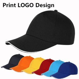 Logo Promotional Gift NZ - 100PCS LOT Cotton Party Gift Cap Free Custom Logo Design AD Promotional Gift DIY Cap Transfer Screen Embroidery Free