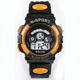 8ffd737f81b9 La mejor calidad niños impermeables Niño Digital LED Reloj de cuarzo de la  fecha de los deportes de muñeca Hombres Relojes Regalo perfecto Dec30 H0
