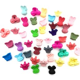 mini hair claws NZ - 20 Pcs Lot Solid Color Cartoon Shape Mini Small Hair Clips Girls' Hair Claw Jaw Toddlers' Side Hairpin Accessories