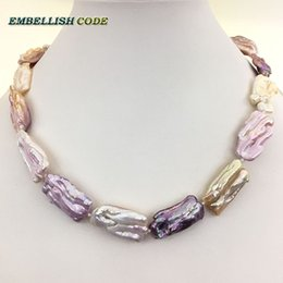 baroque pink necklaces pearls irregular natural white shaped item freshwater multicolor purple