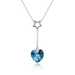$enCountryForm.capitalKeyWord Australia - New arrival 925 Sterling Silver love heart Austria Crystal Pendant Necklaces fashion Jewelry making for women gifts free delivery SVN295