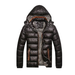 Chinese  Men Winter Casual Hooded Thick Padded Jacket Zipper Slim Men And Women Coats Thickening Hat Parka Outwear Warm manufacturers