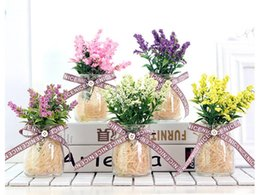Chinese  Simulation lavender potted plants Mini plant decoration Simulation bouquet home party decoration Taking pictures props manufacturers