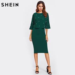 green dress online knee length