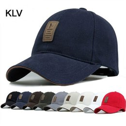 stylish caps for men 2019 - Wholesale-New 2017 Brand Baseball Cap Man Bone Baseball Hat For Man Baseball-cap Chapeu Simple and Stylish Pure Color Ou