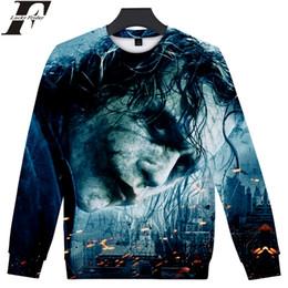 Chinese  2018 Joker 3D cotton capless oversized hoodies Sweatshirts Man Women Anime Long sleeve streetwear Plus Size manufacturers