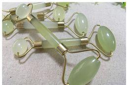 Massage double stick online shopping - Facial Eye Jade Roller Massage Stick Jade Push Wheel Double Head Roller Natural Jade Beauty Machine
