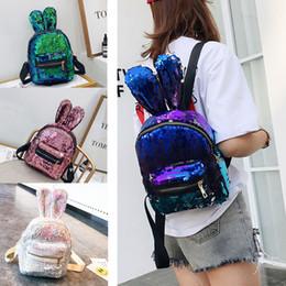 0a1ac885adf2 Мини Кролик уха блестящие блестки рюкзак для маленьких девочек милые  школьные сумки женщины путешествия небольшие рюкзаки сумки на ремне 8 цвет  новая мода