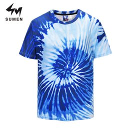 Summer Men Printed T Shirt Australia - Sumen T Shirt Men 3D Printed Short Sleeve Summer Tops Tees 3D Casual Breathable T Shirt Male Blue O-Neck Funny Tops