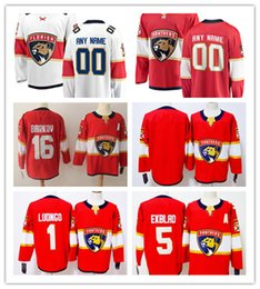 5d5972217 Custom Florida Panthers ANY NAME  NO JERSEYS Men Women Kids 1 Roberto Luongo  5 Aaron Ekblad Authentic Hockey Jerseys Stitched Personalize