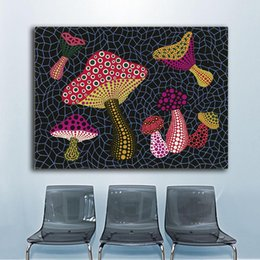 $enCountryForm.capitalKeyWord Australia - 1 Piece Print Oil Painting Wall painting Yayoi Kusama MUSHROOMS (OBST) Home Decorative Wall Art Picture No Framed