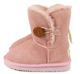 Real Austrália de Alta Qualidade Kid Meninos meninas crianças bebê 52-81 botas de neve quente Estudantes Adolescentes Botas de Inverno de Neve 1 PAR