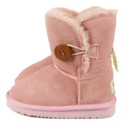 Real Australia Niños de alta calidad niños niñas niños bebé 52-81 botas de nieve caliente Estudiantes adolescentes botas de invierno nieve 1 PAR