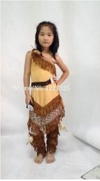 1360e1585d free shipping Children Pocahontas Native American Indian fancy dress costume  kids cheering costume 458child