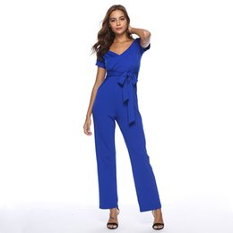 90ef98a9aaf rompers womens jumpsuit 2018 summer wide leg pants jumpsuit plus size  casual one piece pants loose combinaison pantalon A2365