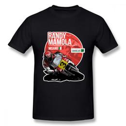 Unique Boy T Shirts NZ - Vintage Custom Randy Mamola 1987 Misano Moto Tees Men Anime Unique Design For Boy T Shirt For Christmas Gift