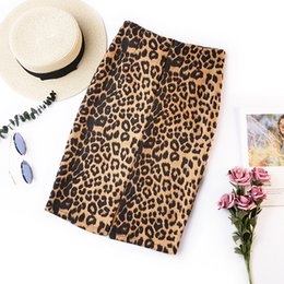 4c92f9197a 2018 summer retro leopard print office skirt high waist slim Korean version  of the new elastic ladies casual sexy bag hip skirt