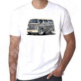 $enCountryForm.capitalKeyWord Australia - WickedArtz Cartoon Grey T2 Bay Campervan Mens 100% Cotton White T-shirt Adult T-Shirt Cotton Fashion Top Tee Chinese Style