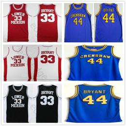 f02f929d084 NCAA Hightower Crenshaw  44 Kobe Bryant Blue High School Basketball Jersey  Lower Merion 33 Kobe Bryant Red White Black High School Jerseys
