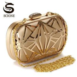 golden crystal evening bags 2019 - 2017 Wedding Party Bags Clutches Women Gold Crystal Evening Bags Purse Factory Price Golden Clutch Bag Black Small Handb