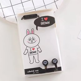Wholesale Lovely Hello Kitty Brown Bear Cony Bunny Rabbit mm In Ear Stereo Earphones for iPhone Samsung Xiaomi Kids Girls Birthday gift