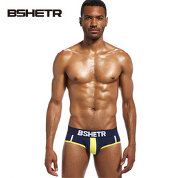 slip men underwear UK - BSHETR Brand 2017 Underwear Men Soft Briefs Cotton Male Panties Slip Cueca 4 Color New Design Gay Underpants Fash