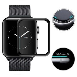 3d smart watch UK - 3D Curved Tempered Glass 9H Explosion Full Cover Protective Guard Film Screen Protector For Apple Watch Series 4 3 2 1 40mm 44mm 38mm 42mm