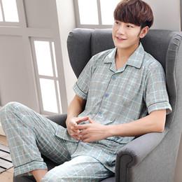 7472ff6c00 Mens pajaMa shirts online shopping - Men T Shirt Cotton Pajama Set Sleepwear  Sexy Mens Turndown