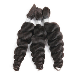 China Brazilian Loose Wave Bulk Human Hair For Braiding 1 Bundle 100g Free Shipping 10 to 28 Inch No Weft Hair Extensions suppliers