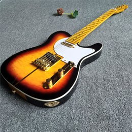 Hot frets online shopping - Hot sales sunburst electric guitar with gold accessories and frets