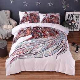 $enCountryForm.capitalKeyWord Canada - FANAIJIA Horse print bedding sets queen size 3d Mandala 3pcs duvet cover Pillowcase Bedlinen