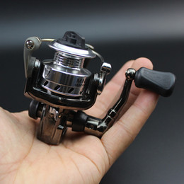 $enCountryForm.capitalKeyWord NZ - Silver & Black Mini Fishing Reel Palm Size Metal Coil Poket Small Spinning Reel for Ice Fish Pen Fishing Rod