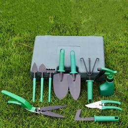 Wholesale Garden Tool Set 10 Piece Garden Heavy Duty Tools Set Kit with Hard Storage Case Secateurs Pruning Saw Trowel Pruners Rakes best gift