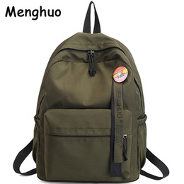 Menghuo Badge Women backpack Ribbons School Bags For Teenagers Girls  Fashion Bags Classic University Student Backpacks Mochilas d94dc5f44e18e