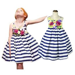 6cf38a905e09 Stereoscopic Flowers Braces Skirt Girls Floral Dress Striped Maxi Dress  Pleated Vest Skirt Suspender Skirt Summer