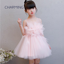 wedding dresses for dancing NZ - Tutu dresses Beautiful 3d floral wedding dress Suitable for school season Graduation dance performances Flower girl dress