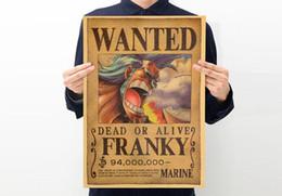 горячие продать высокое качество коричневый плакат аниме Pinup стены наклейки с клеем самостоятельно дома и бизнеса коричневая бумага One Piece about50 * 35 см